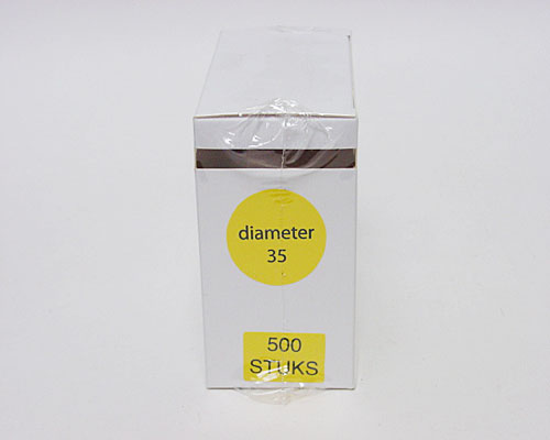 label transparant for closing D35mm rol/500st