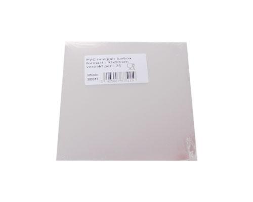 PVC sheet for luxbox 95x95mm / pack 24 pcs