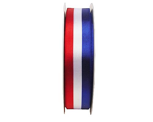 Redwhiteblue ribbon 25mm/50mtr