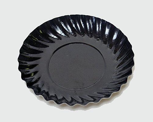 Bordje rond dia 88mm black