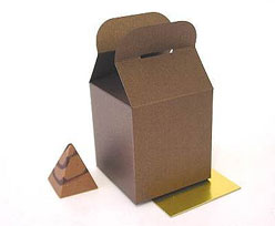 Cubebox handle small 75x75x75mm bronztwist with goldcarton