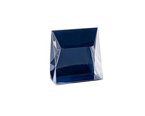 Pochette transparant L100xW50/H110mm blueberry blue