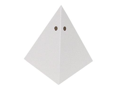 Piramide 70x70x90mm crystal