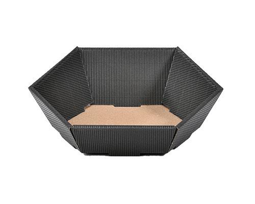 Basket hexa mini L200xW168mm front H48mm/ back H85mm black