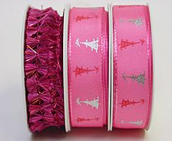 Special pack Christmas ribbon no 32 pink
