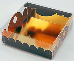 box Marquis square small chocolat laque