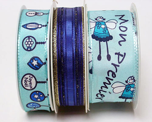 Special pack Christmas ribbon k784 blue