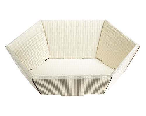 Basket hexa medium L305xW258mm front H75mm/ back H130mm creme