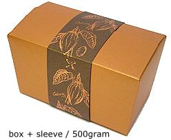 ballotin 500 gr  cacao coppertin, sleeve in bronztwist