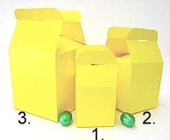 Cubebox handle large 125x125x125mm citrus with goldcarton