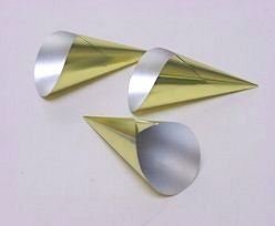Alu Cones Small 1000 pcs/box Gold