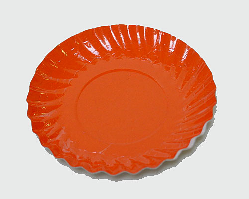 Bordje rond dia 88mm orange
