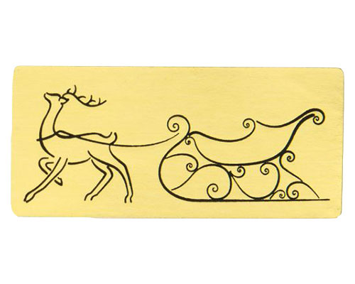 label christmas rudolf gold with black 500pcs
