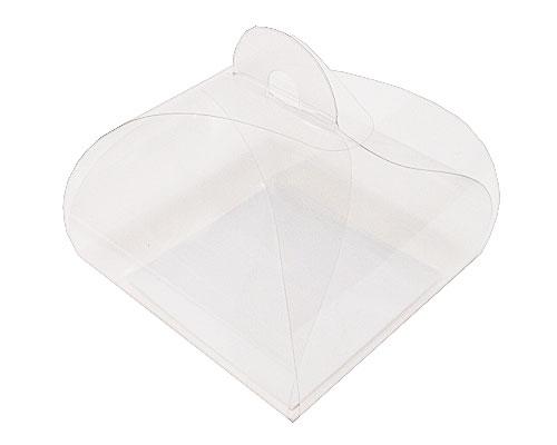 PVC take away box L90xW90xH80mm + silver cardboard