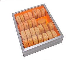 Macaron box 4 row silver orange Monaco