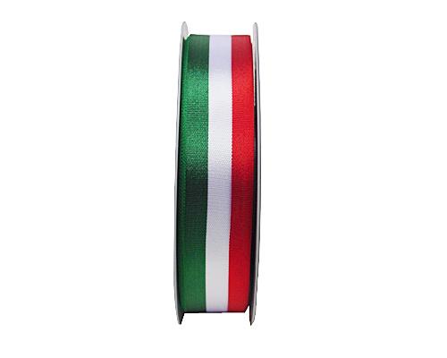 greenwhitered ribbon 25mm/50mtr