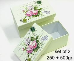 Rose Peony box set of 2 / appr 250 and 500 gr