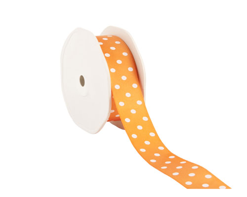 Ribbon dots 23mm/20mtr. col.34 orange