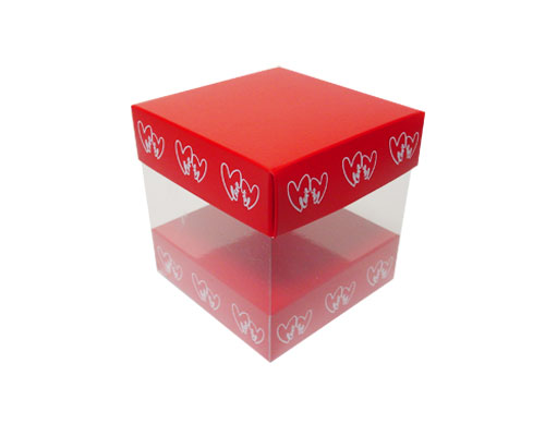 Skylinebox L100xW100xH100mm exterior Double hearts red/white