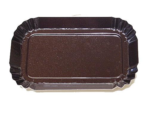 Bordje rectangular 80x40mm brown