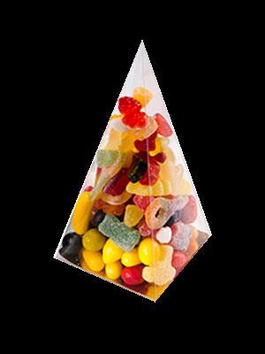 Bonbondoosjes PVC Pyramide