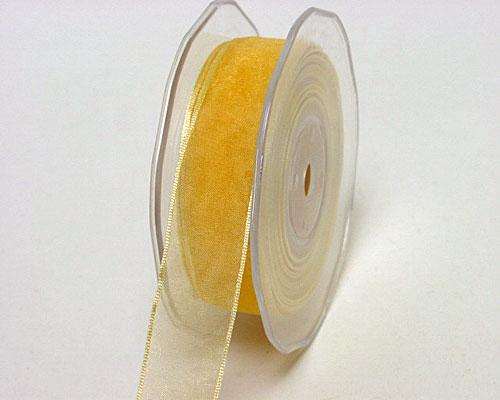 organza wired edge beige