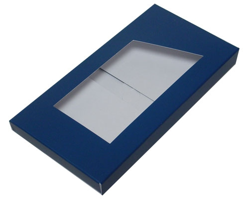 Box for chocolate bar blueberry blue