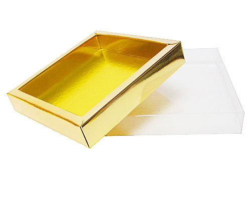 Windowbox 126x126x24mm interior shiny gold