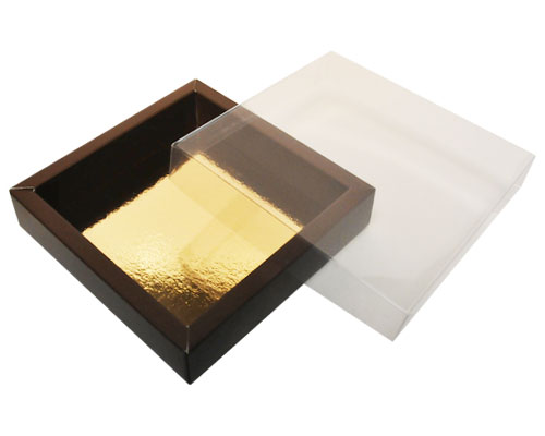 Windowbox 126x126x24mm brown