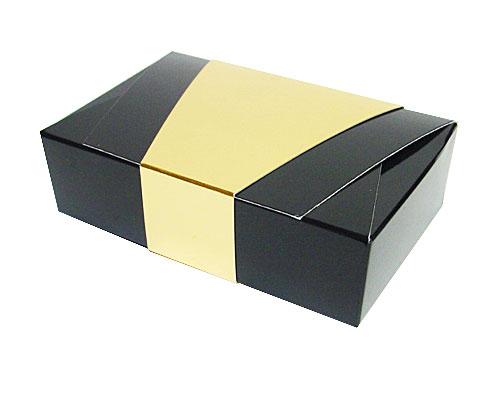 Ballotin enveloppe 142x90x35mm noir laque