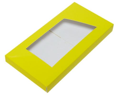 Box for chocolate bar jaune laque