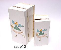 Elf boxes wood / set of 2 / price per set, white
