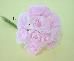 Trosroosje x12, licht rose