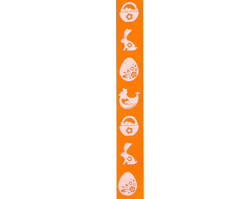 DoubleFaceSatin  EasterGraphic Orange