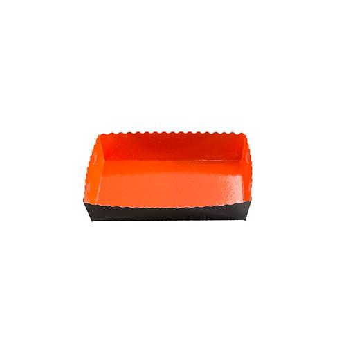 Dessert tray 160x100x35mm orange-black