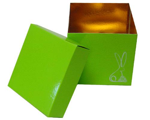 Cubebox Bunny L100xW100x95mm Vert pomme laqué