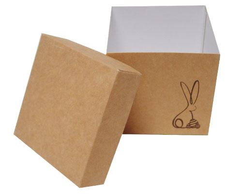 Cubebox Bunny L100xW100x95mm Kraft