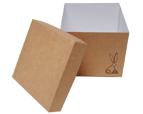 Cubebox Bunny L130xW130x115mm Kraft