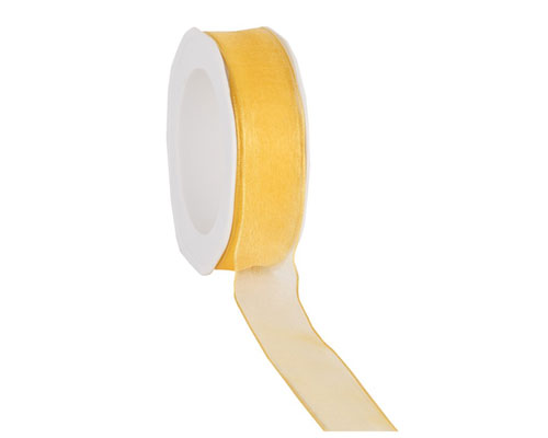 organza N 15 wired edge yellow