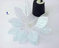 shiny leaf x12 small, light blue