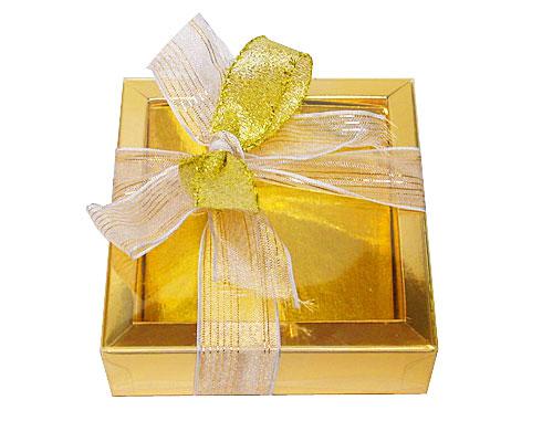 Windowbox 90x90x30mm interior goldshine