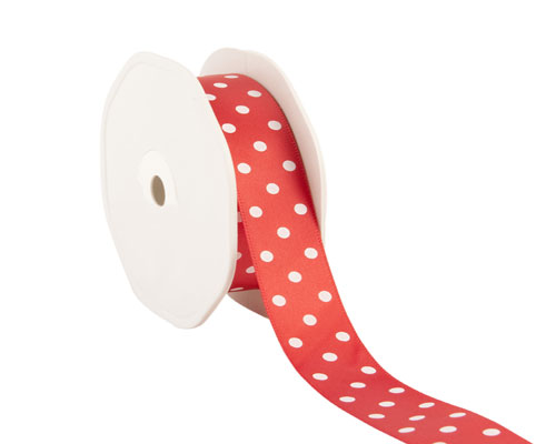 Ribbon dots 23mm/20mtr. col.55 red