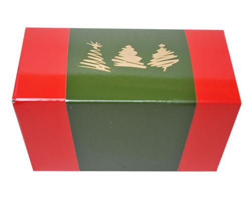 Ballotin 3 xmastree / sleeve 1000 gr. redgreen