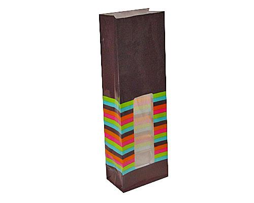 Bag with stripes L70xW40xH200mm darkbrown