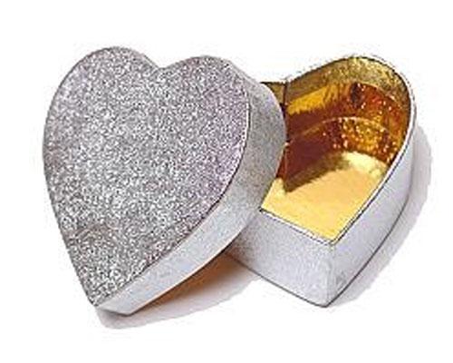 Box heart small silver