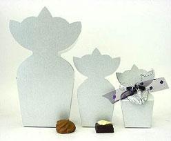 krooncornet small 50x30x50mm silvertin
