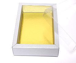 Windowbox 130x90x30mm interior silvertin