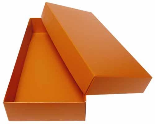 Sleeve-me box without sleeve 183x93x30mm interior sunset orange