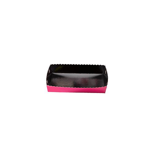 Dessert tray 130x90x35mm fuchsia-black
