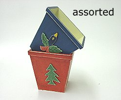 kerstbakje hout  assorted